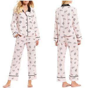 Kate Spade fox print pajama Sz s small